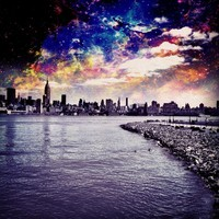 NYC Galaxy Art Print by mr_cuervo | Society6