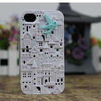 White European Style Building Case Cover for iPhone 4gs/4s by fashioncase