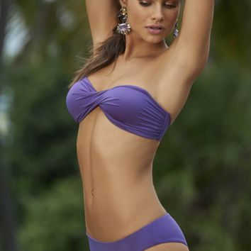 Boho Nouveau Twist Bandeau Two Piece Bikini – Purple By Palmarosa - Two Piece - SHOP BY STYLE - SHOP BY