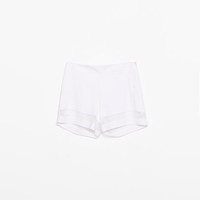SHORTS WITH SHEER DETAIL