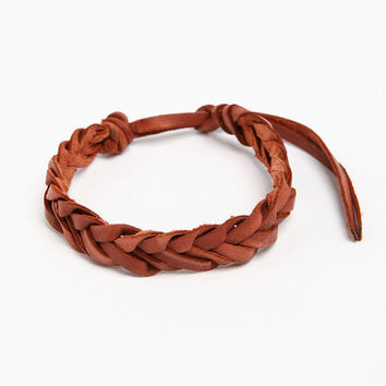 BRAIDED LEATHERETTE BRACELET