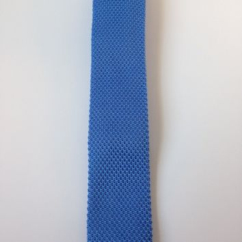 Sky Blue Narrow Knit Tie