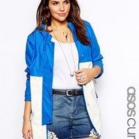 ASOS CURVE Rain Trench In Color Block