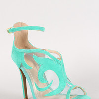 Adelpha Intricate Cut Out Mesh Stiletto Heel