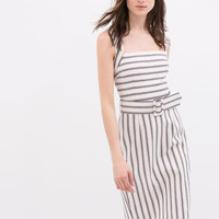 STRIPED DRESS WITH WIDE STRAPS