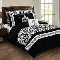 HFI Alisia Floral 8-pc. Comforter Set - Queen