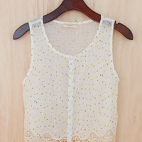 Lace and Lemonade Cropped Top