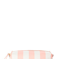 Candy Striped Small Cosmetic Bag