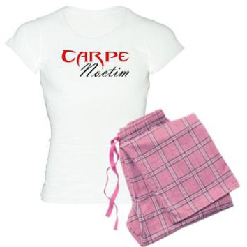 Carpe Noctim Pajamas - Vampire Attire - PJs - Jammies - Vampire Attire - KinDread Designs