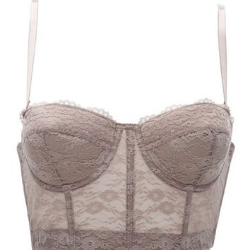 CONVERTIBLE LONG LINE LACE BRA
