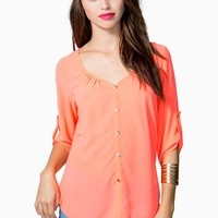 So Essential Button Blouse