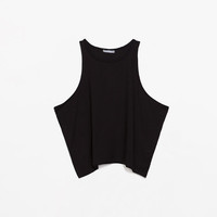 VEST TOP WITH OPEN ARM HOLES