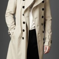 Burberry - DOUBLE BREASTED COTTON TRENCH COAT