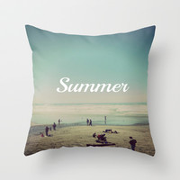 Summer Throw Pillow by Hannah Kemp | Society6