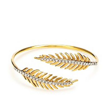 Pave Feather Bangle