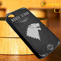 House Stark Game Of Thrones iPhone 4 4S iPhone 5 5S 5C and Samsung Galaxy S3 S4 Case