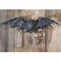 Design Toscano Vampire Bat Key Holder Wall Sculpture in Gray Stone - CL69108 - Decor