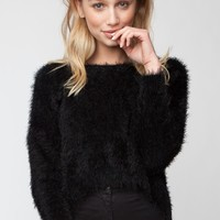 FALLON FAUX FUR SWEATER