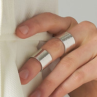 SILVER STACKED HAMMERED RING SET SILVER SHOP PUBLIK | PUBLIK | Women's Clothing & Accessories