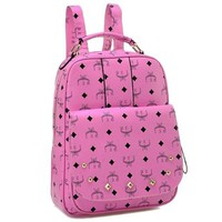 Celebrity Studded Rivets Computer Book Travel Shoulder Bag Backpack