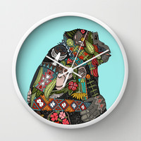 chimpanzee love sky Wall Clock by Sharon Turner | Society6