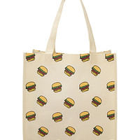 Playful Hamburger Shopper Tote
