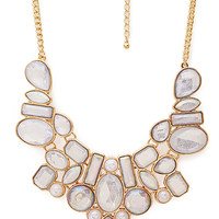 Be Seen Iridescent Bib Necklace
