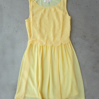 Dancing Yellow Petals Dress [5374] - $34.00 : Vintage Inspired Clothing & Affordable Dresses, deloom | Modern. Vintage. Crafted.