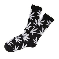 Field For You New Plantlife Marijuana Weed Leaf Cotton High Socks Colorful Men/women