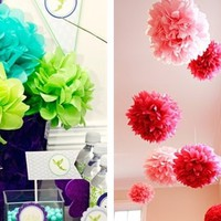 30 Colors Handmade Tissue Poms in 2 sizes