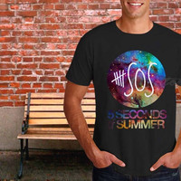 5 SOS Galaxy Nebula, 5 second of summer Popular Item on etsy for Funny Shirt by lezatos