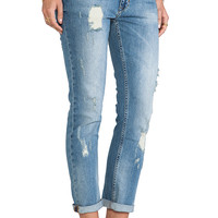 ANINE BING Distressed Jean in Light Wash