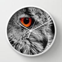 ORANGE OF MY EYE Wall Clock by Catspaws | Society6