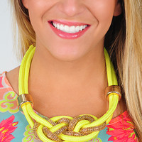 When The Sun Shines Necklace: Bright Yellow