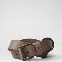 Mens Notch Belt (WASHED CHOC) | ALLSAINTS.com
