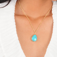 Pretty Girl Rock Necklace: Turquoise