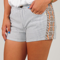 All Summer Long Shorts: Gray/Ivory