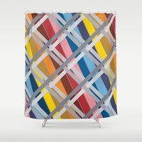 Olympus Shower Curtain by Ramon Martinez Jr