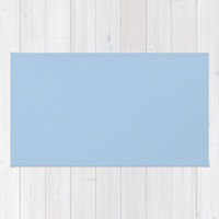 Placid Blue Area & Throw Rug by BeautifulHomes | Society6