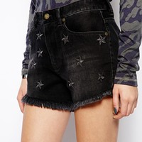 55Dsl Star Denim Shorts