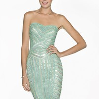 Scala 47656 Sweetheart Sequin Dress
