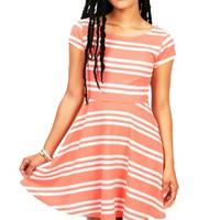 Lolly Stripe Dress | Skater Dresses at Pink Ice