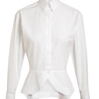 AZZEDINE ALAÏA | Tailored Cotton Peplum Shirt | Browns fashion & designer clothes & clothing