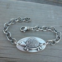 MADE TO ORDER - Personalized Paisley Turtle Bracelet