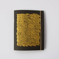 Gold Feather Notebook, Black, 4.25x5.5