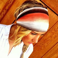 Coral Stretchy Headband Gradient Gauze Women's by ThreeBirdNest