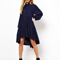 ASOS Tiered Swing Shirt Dress