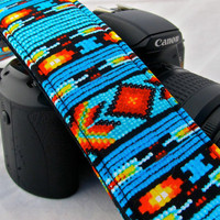 Navajo Style dslr camera strap by FunkyMutt on Etsy