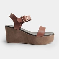 Caught Up Flatform Wedges | Threadsence