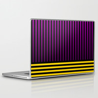 Purple/Yellow Stripes - Laptop & iPad Skin by Lyle Hatch | Society6